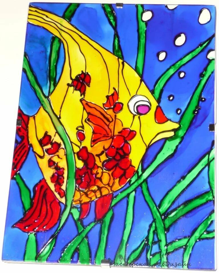сразу картинки с рыбками витраж этой статье