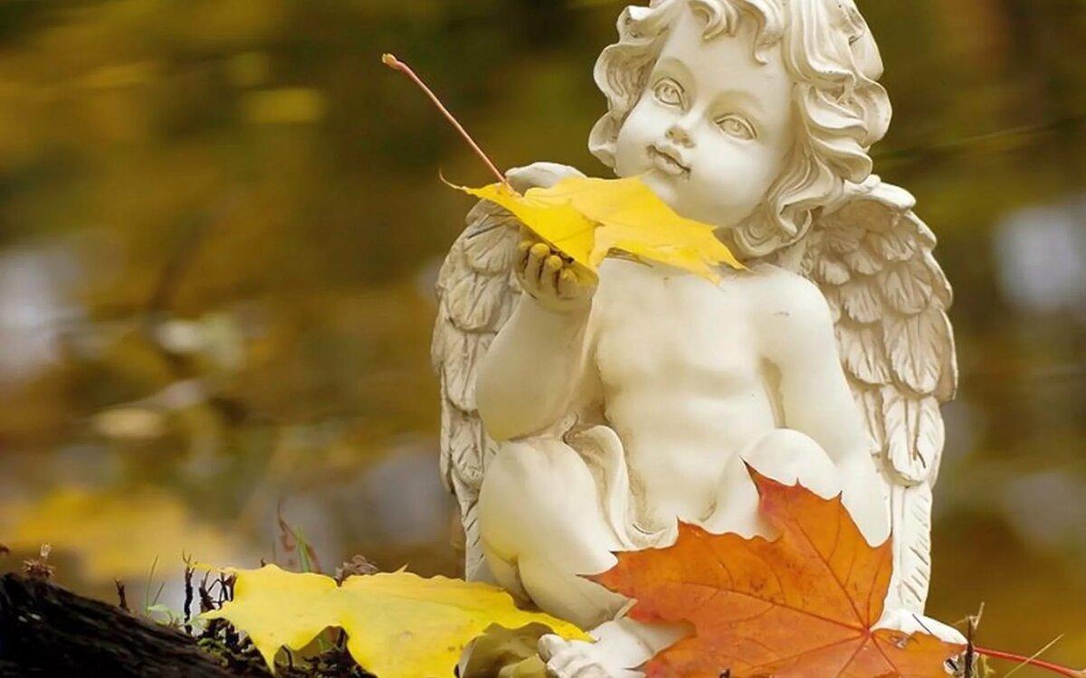 Картинки осенние ангелочки