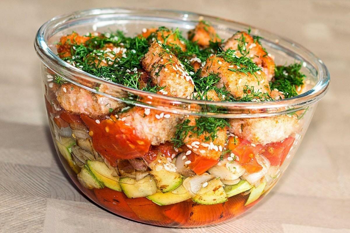 половой рыбные салаты с фото и рецептами после
