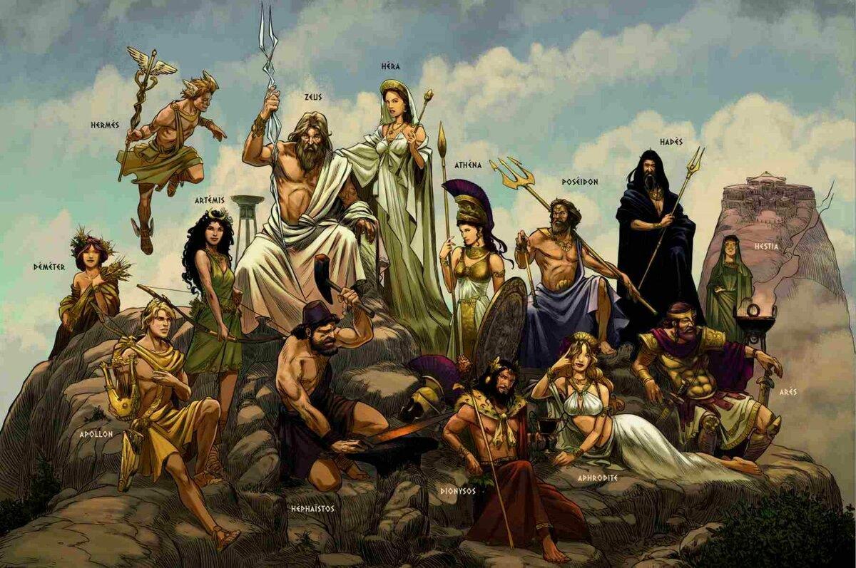 Картинка много богов