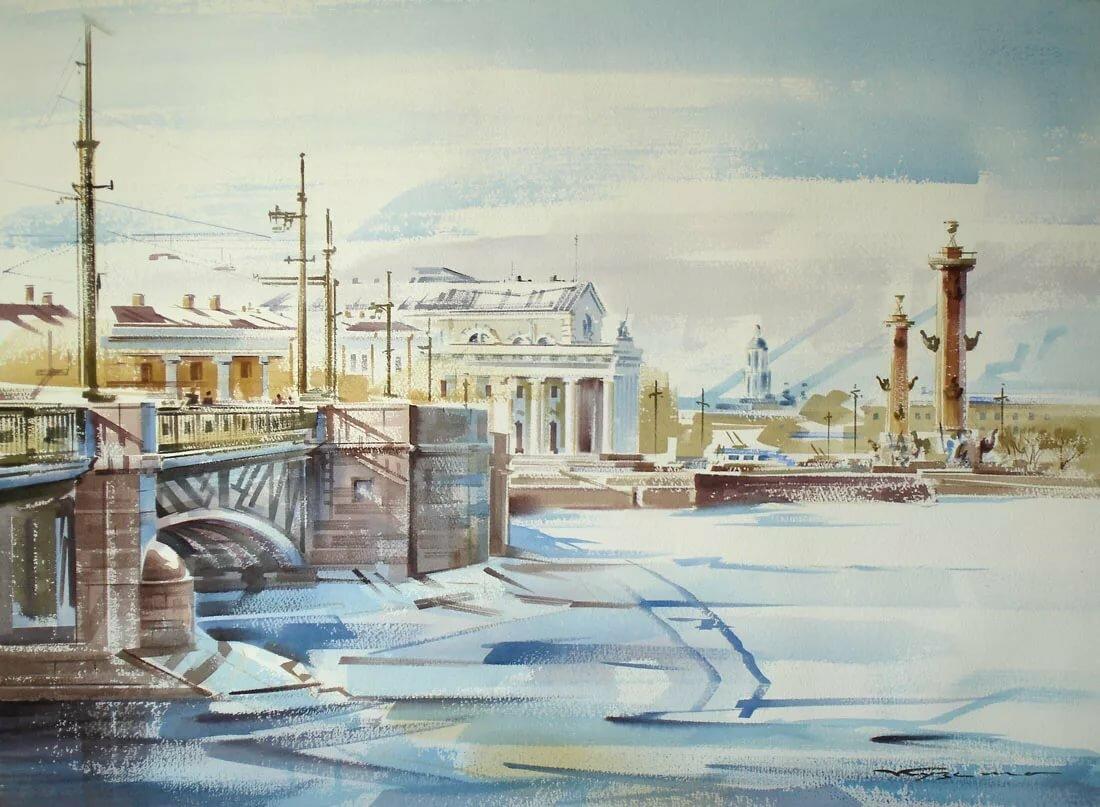 рисунок петербурга зимой сегодняшний день