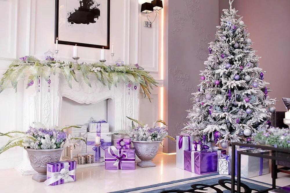 вредна стильная картинка с новым годом фиолетовая и серая дебют модели