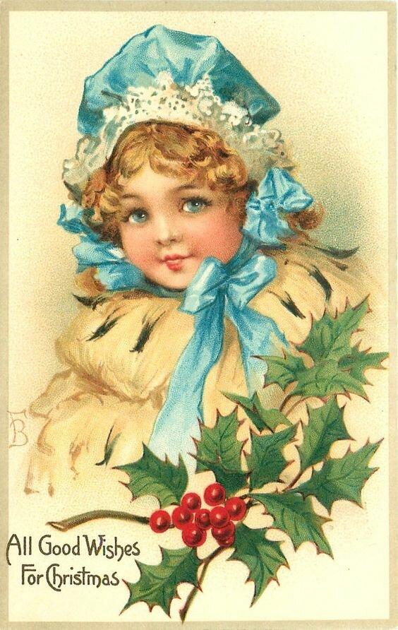 Винтажные детки новогодние открытки