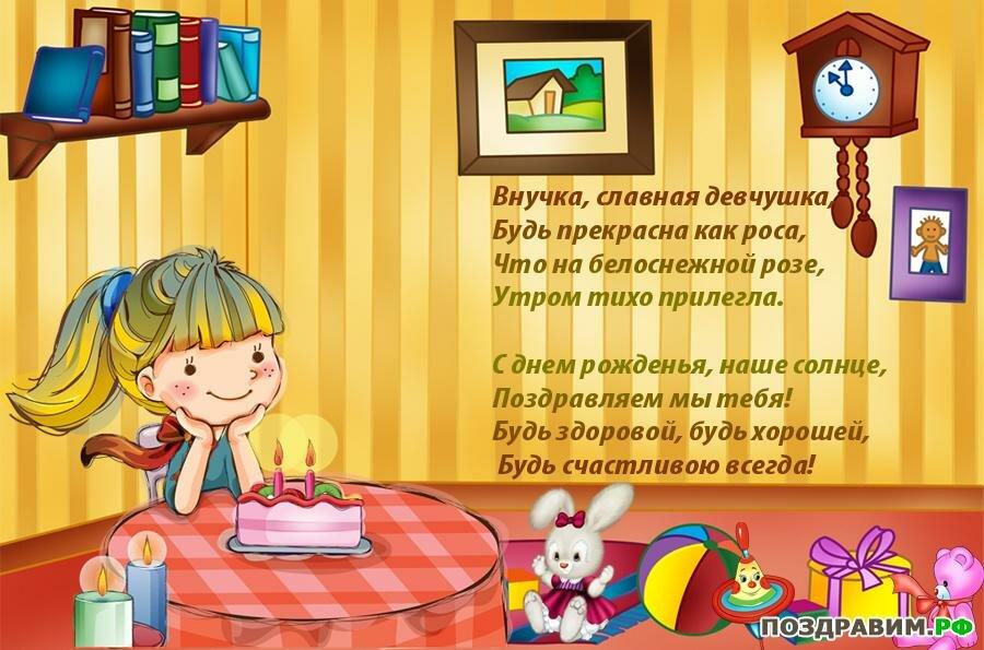 Картинки, открытки поздравляю с днем рождения внучки