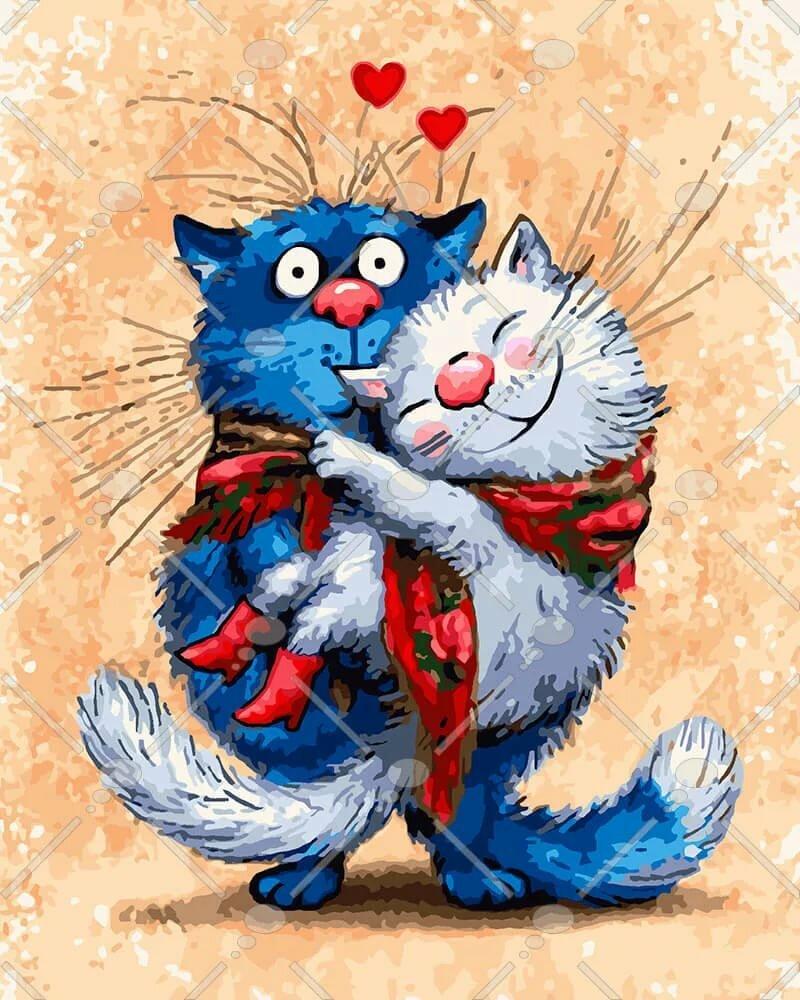 приклеила картинки котик дорогой любимый трое человек получили