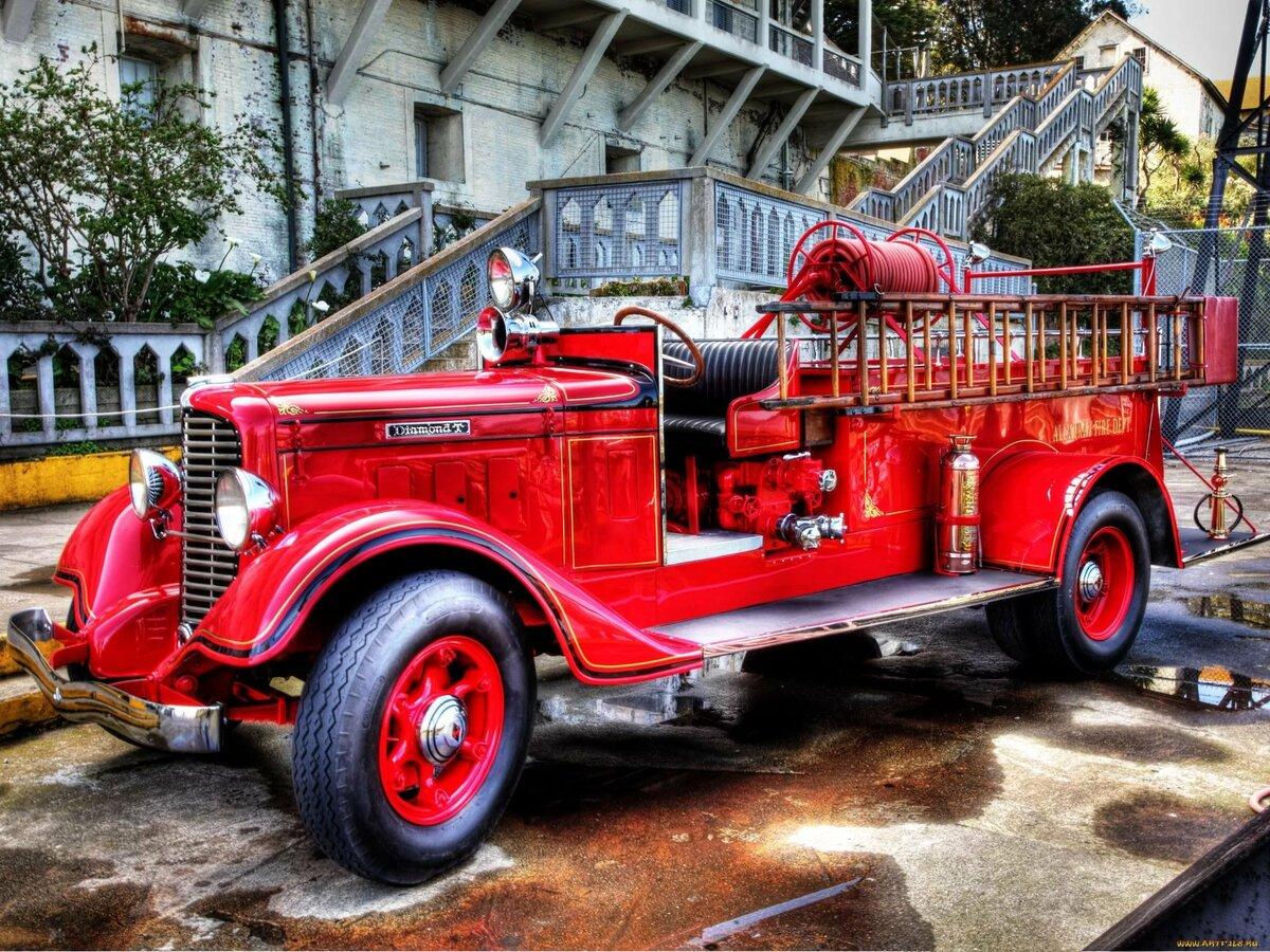 моя картинка старинных пожарных машин мама