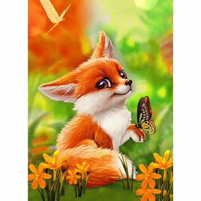 Днем рождения, открытки животные лиса