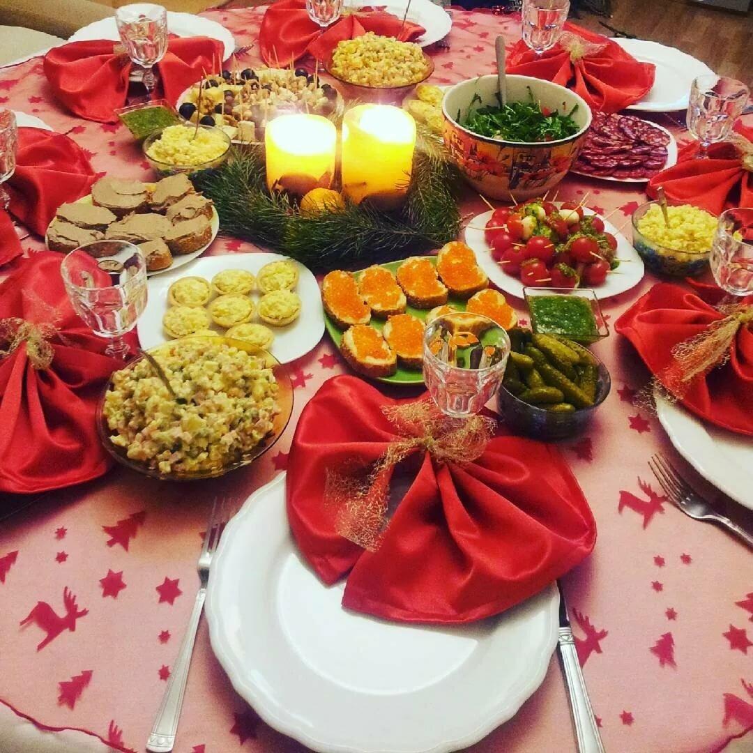 Сервировка праздничного стола фото в домашних условиях с едой