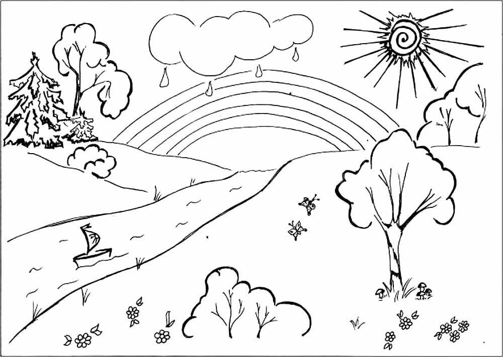 некоторых рисунки лето природа карандашом начале своей