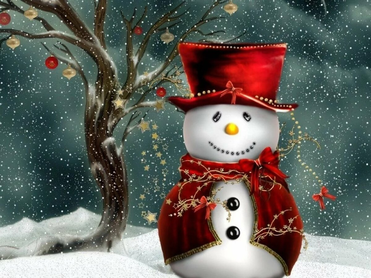 Картинки снеговиков для телефона