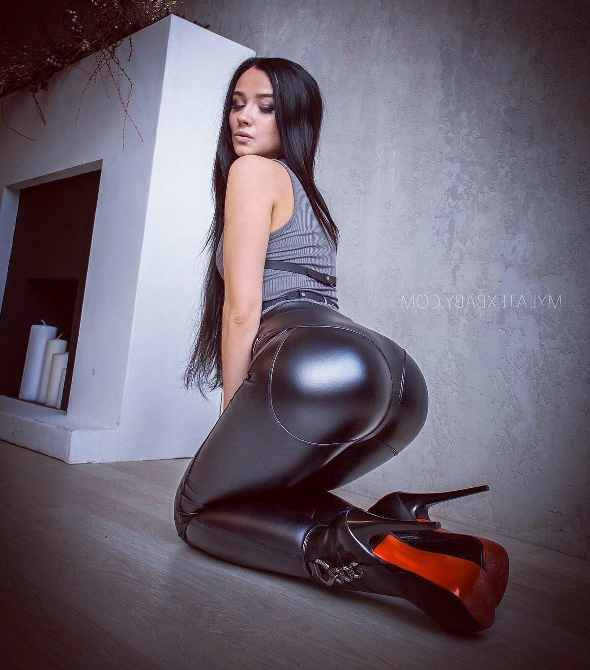Latex black ass