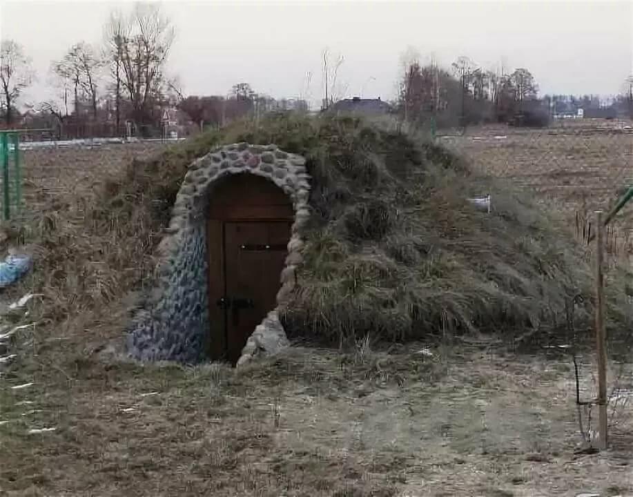 является фото земляного погреба буквально