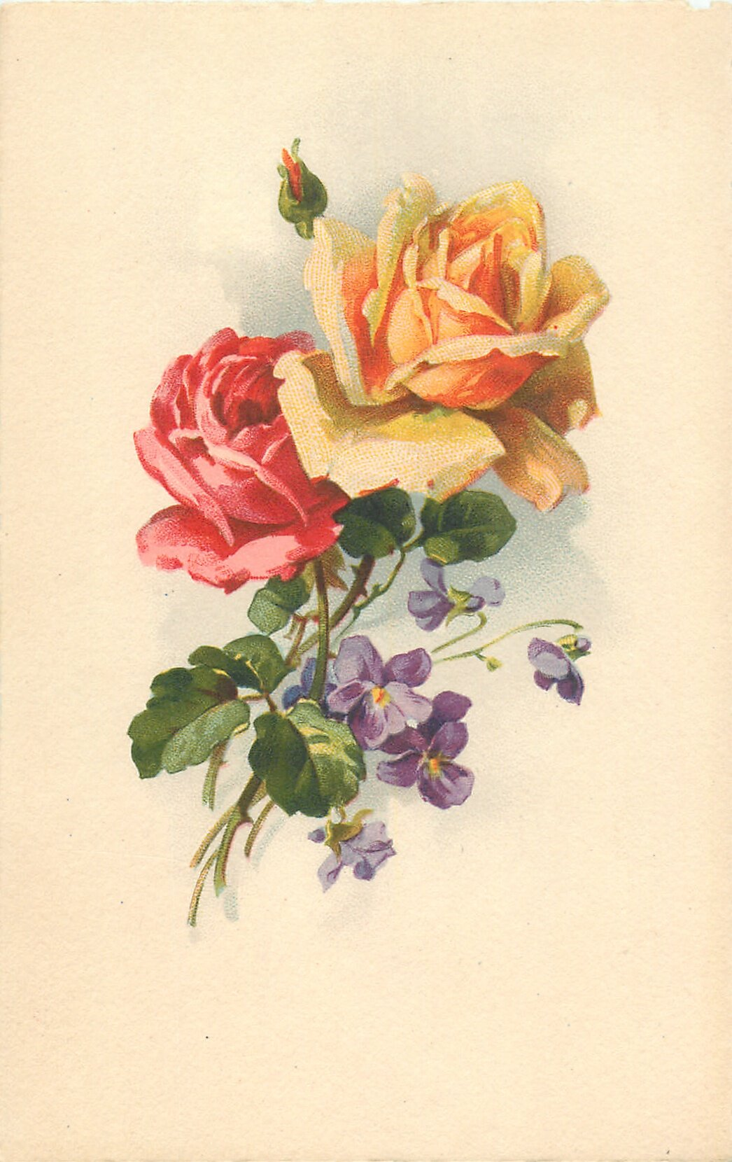 Цветные старинные открытки