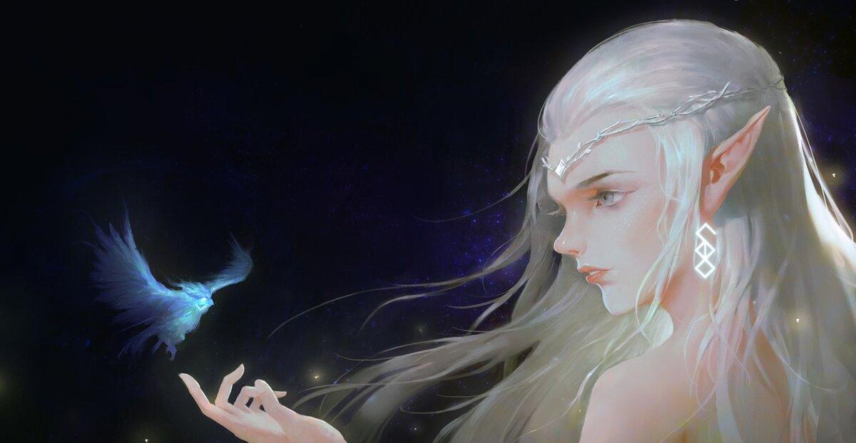 Картинки эльфов с голубыми глазами тело так