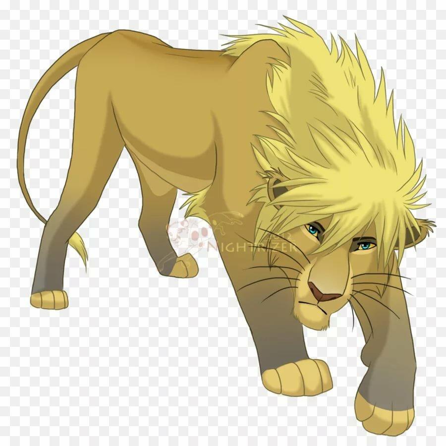 Картинки аниме львов