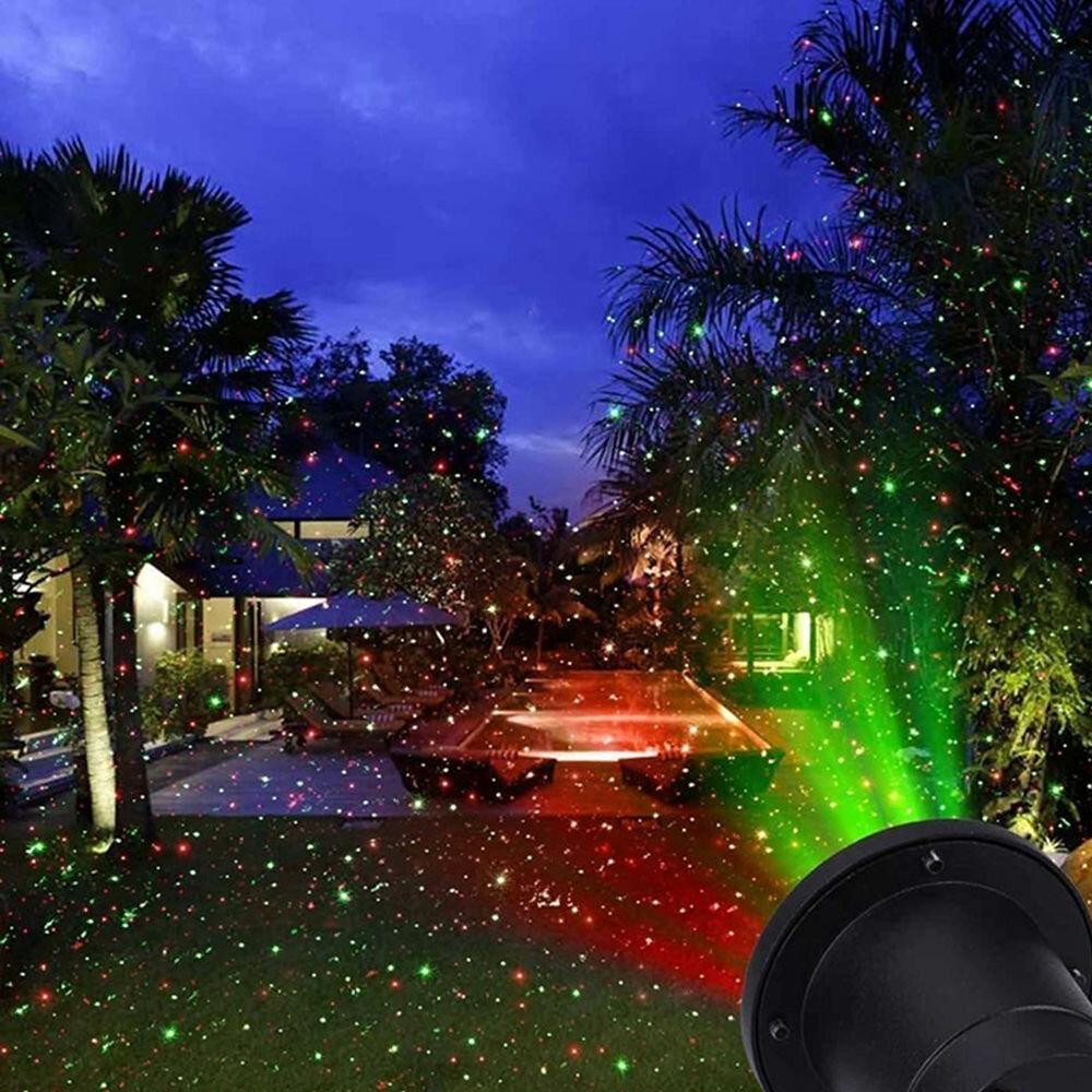 Лазерный проектор для Рождества в Павловском