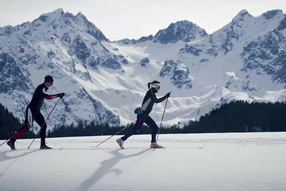 Ходьба на лыжах картинки