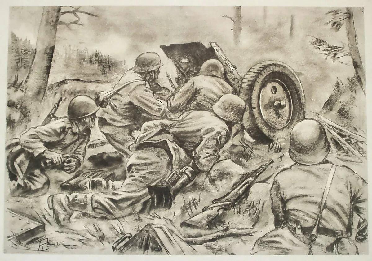 Картинки с великой отечественной войны нарисованные