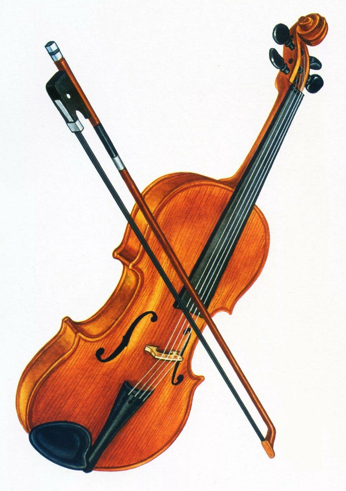 Скрипка детский рисунок