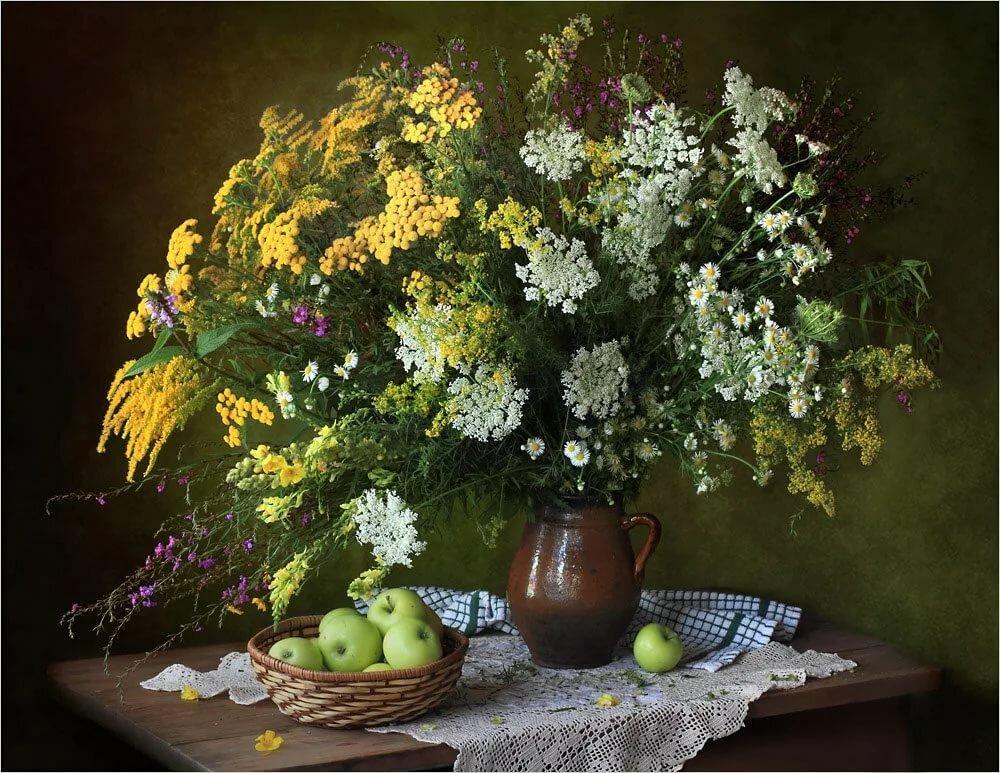 картинки натюрморты с полевыми цветами движущуюся
