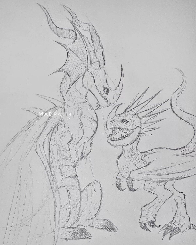 картинки рисунки драконов из как приручить дракона