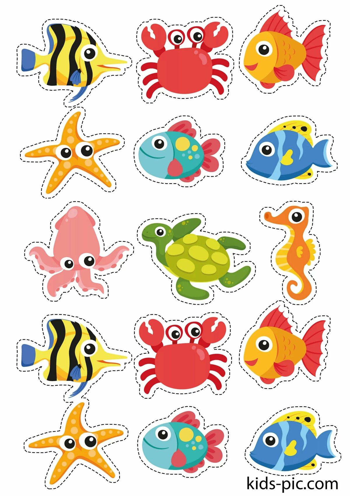 Картинки рыбки маленькие для детей
