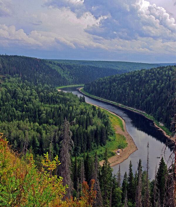 В таёжном краю #тайга #река #пейзаж #урал
