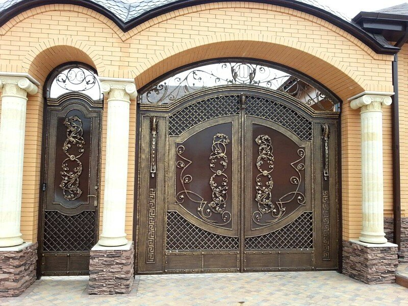 Ворота кованые картинки грозном