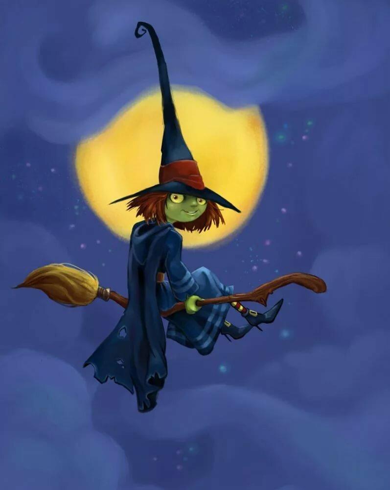 Смешная ведьмочка картинки