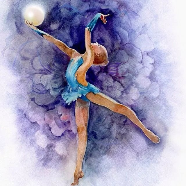 открытки художественная гимнастика