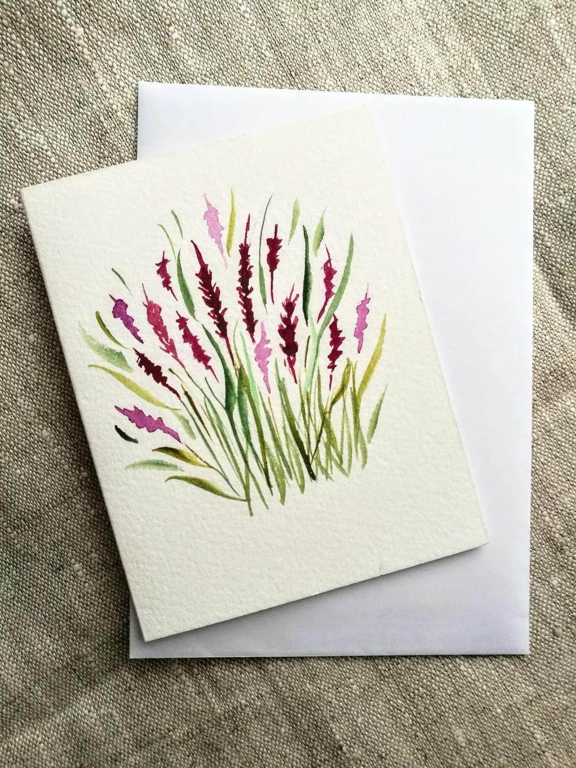 Модные открытки акварелью