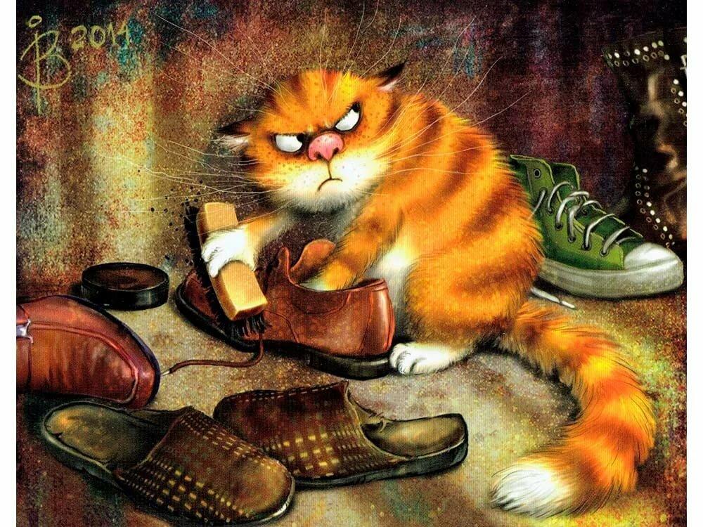 Рисунки котов смешные