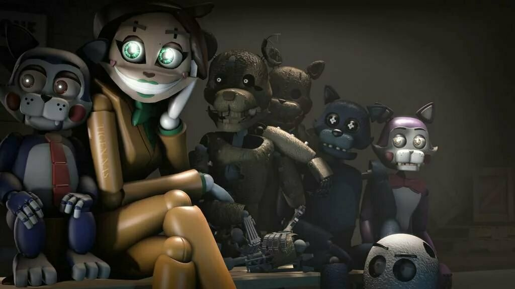 Пять ночей с кэнди картинки персонажей сравнение