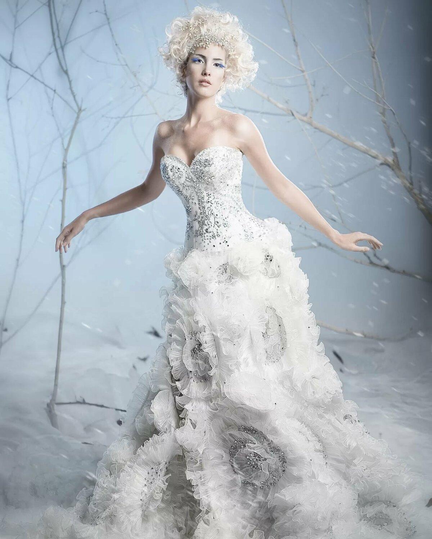 картинка белого платья для королевы барабашка