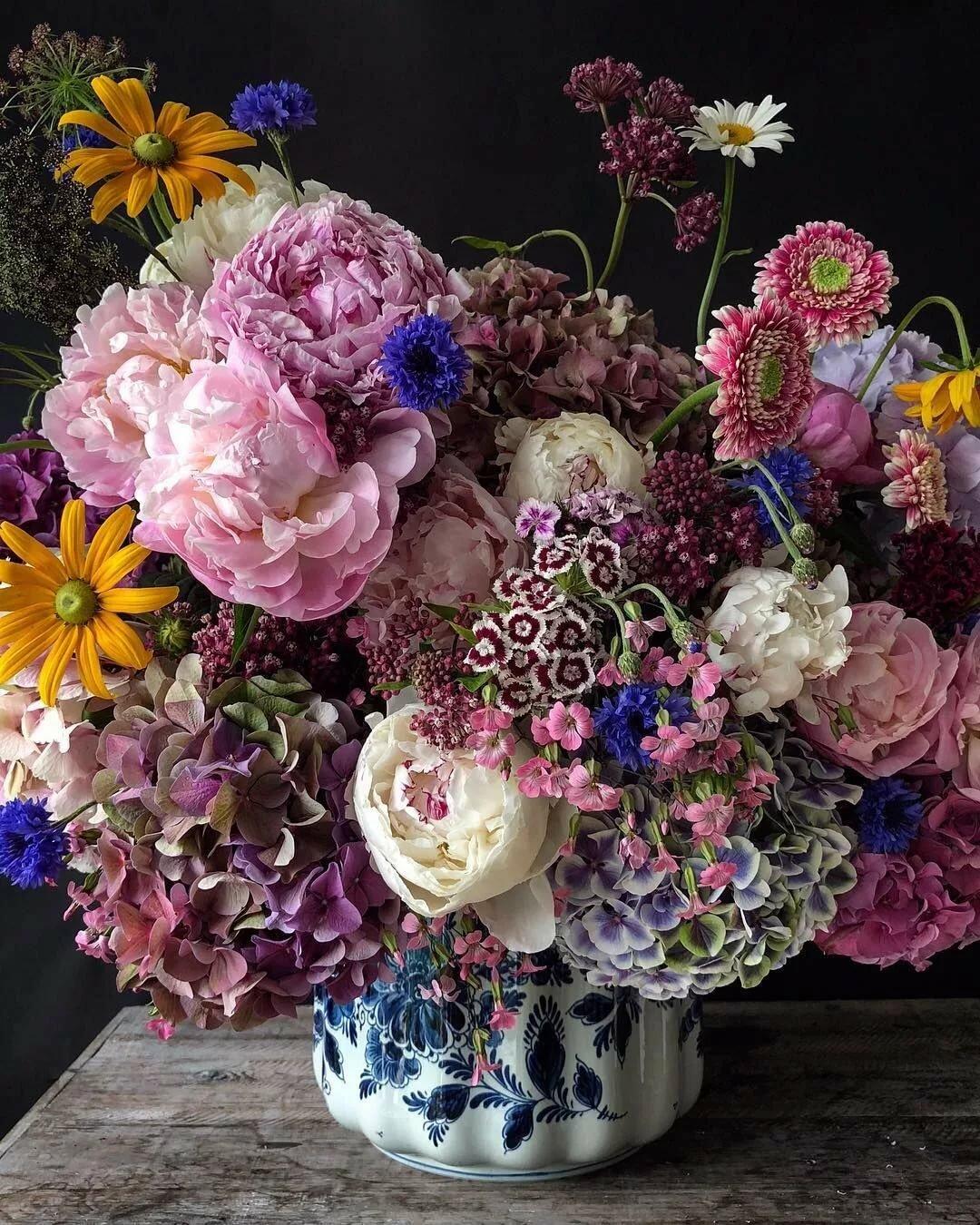 Волшебный букет цветов фото
