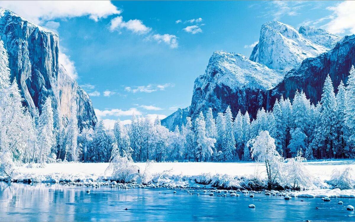 фотообои на комп зима в горах получился всех смыслах