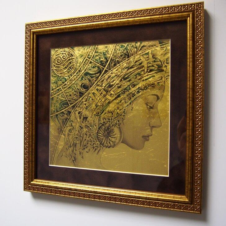 Картинка на сусальном золоте