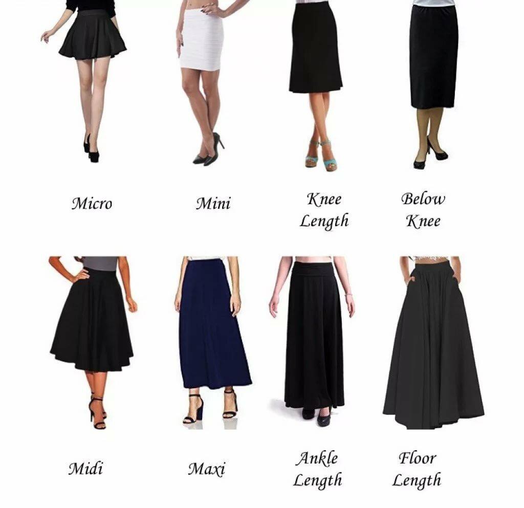 Длина юбки у девушки картинка