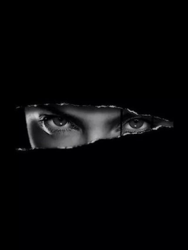 Картинки женские глаза в темноте