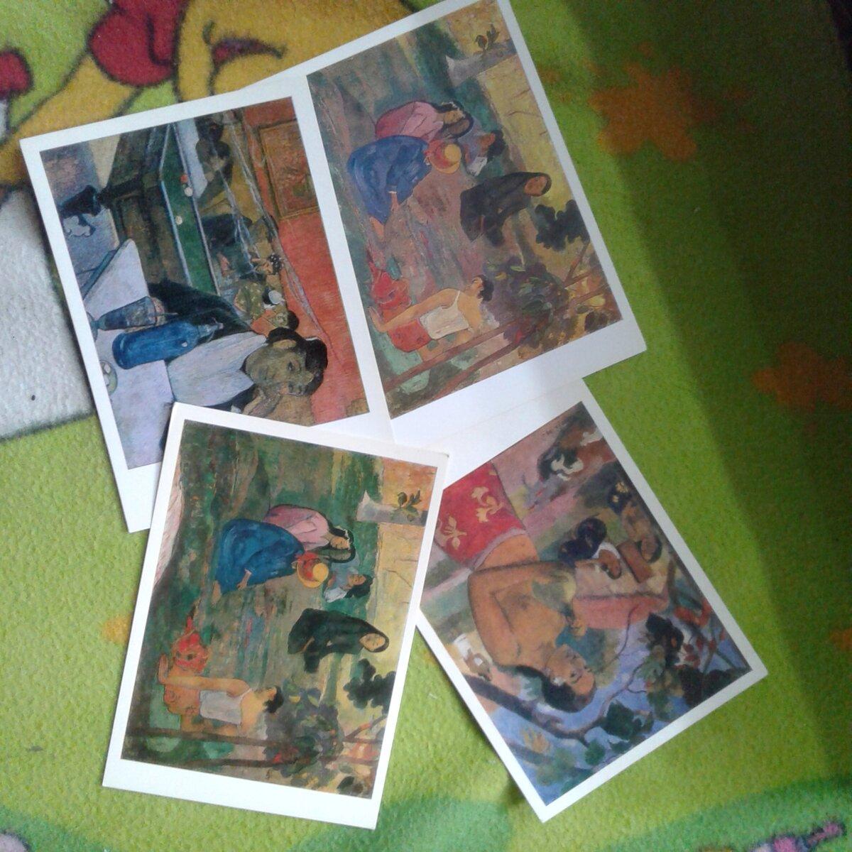 Коллекция открыток с репродукциями картин, открытки поздравлениями