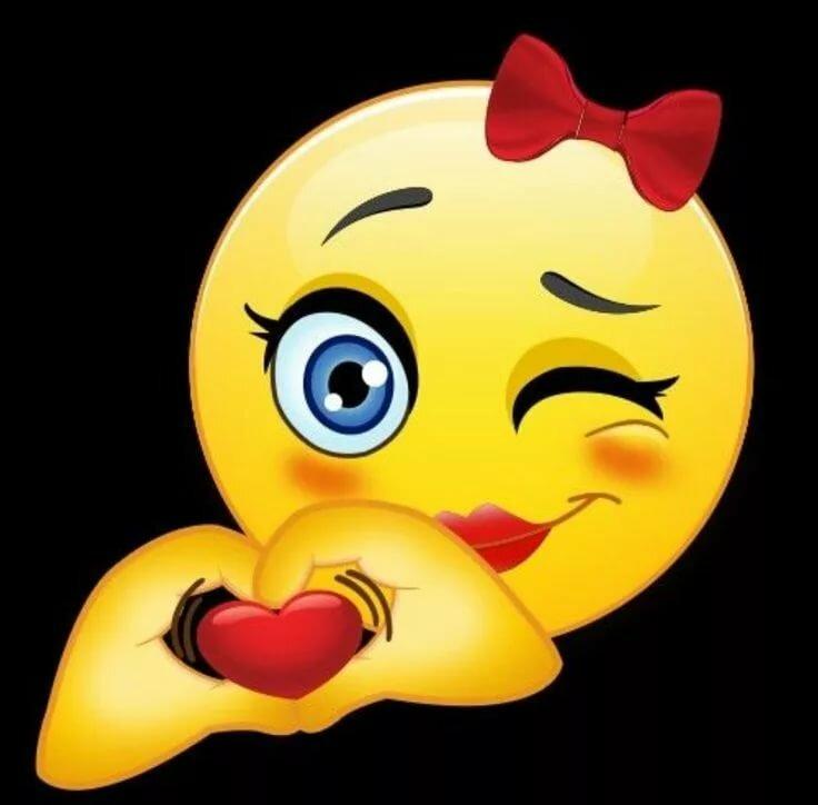 Картинка смайлик с поцелуйчиком