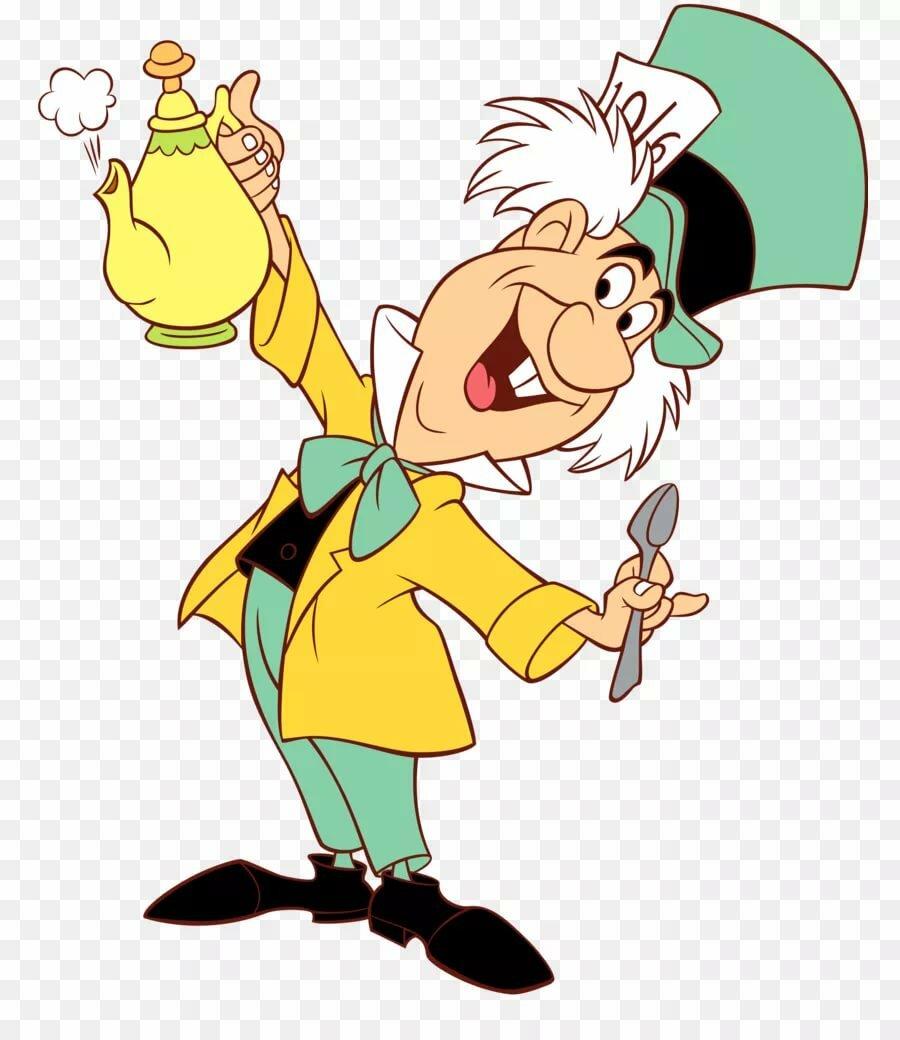 Алиса в стране чудес мультик картинки шляпник