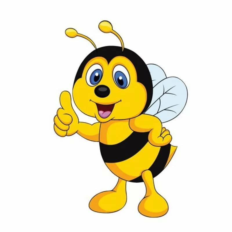 Мультяшная картинка пчелки