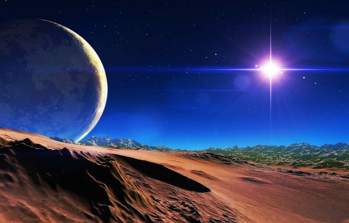 Космический пейзаж картинка