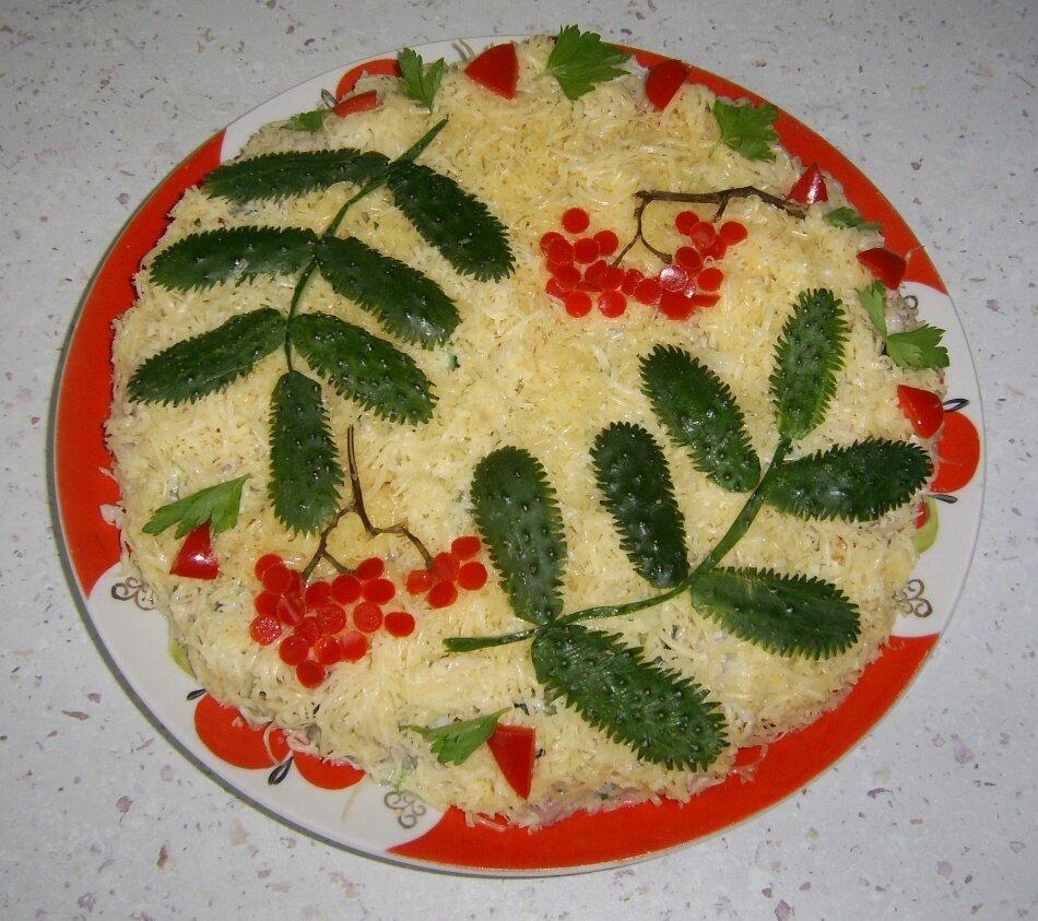 как украсить салаты своими руками фото пошагово капус