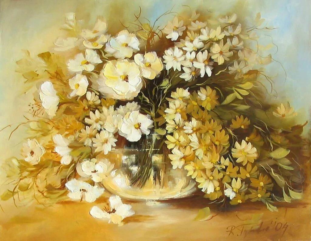 можно желтые цветы в картинах художников росла творческой