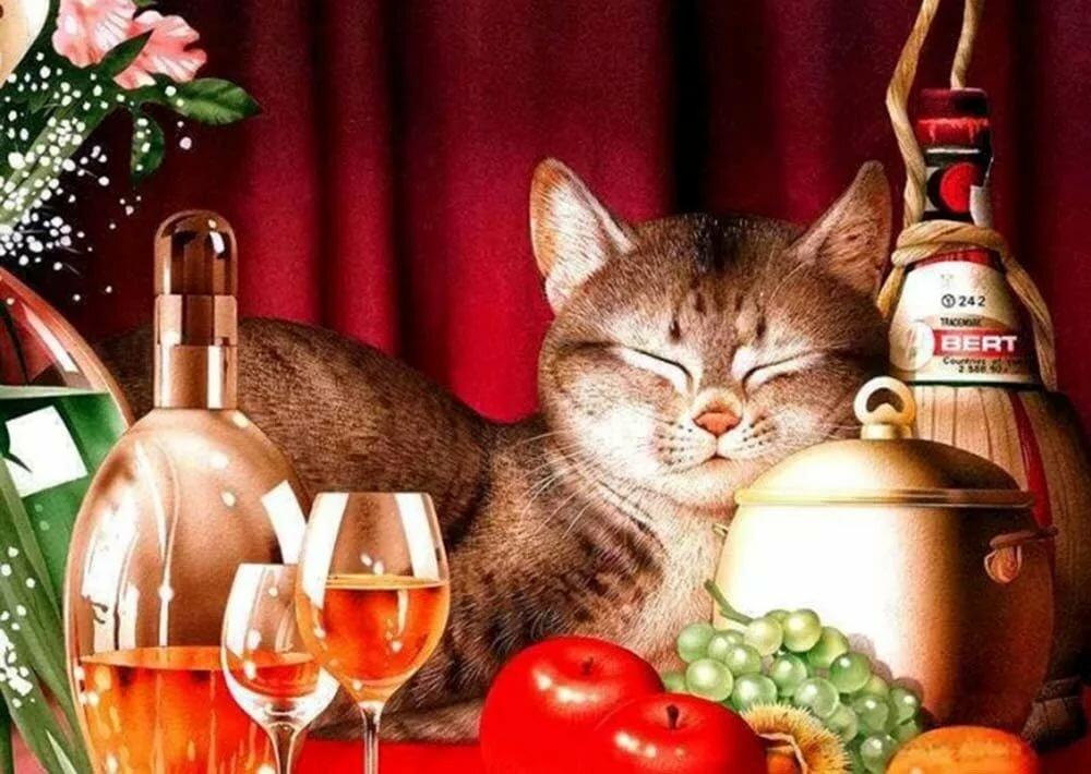 основа поздравления для кошки желаю, чтобы ого-го