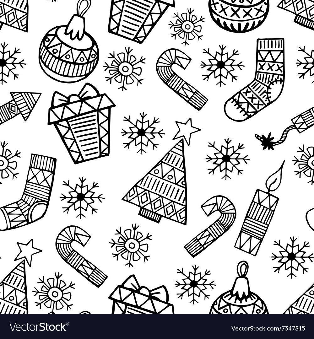 картинки на новый год распечатки черно белые вам