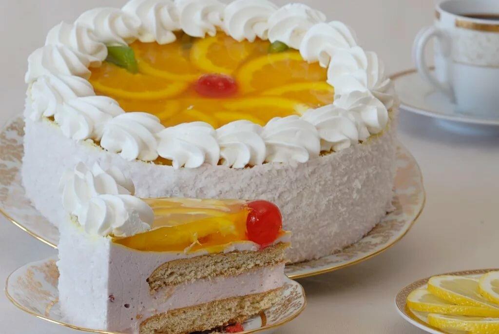 Торт из готовых бисквитов с фото практически всем