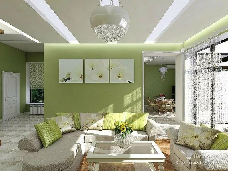 бело зеленая гостиная фото каске, районе виска